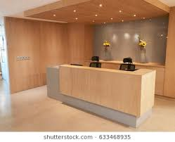 office reception. Brilliant Reception Reception Area Of Modern Office With No People In