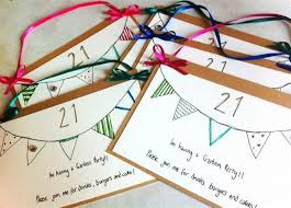 21st birthday party ideas diy invitations