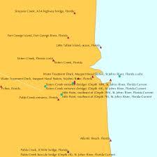 Wordens Pond Depth Chart Bar Pilot Dock St Johns River Florida Tide Chart
