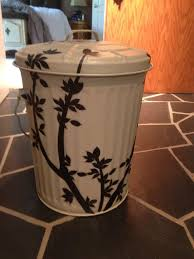 Exterior Garbage Cans Set Painting Unique Design