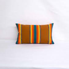 indoor outdoor sunbrella icon clay 20x12 vertical stripes throw pillow quick ship