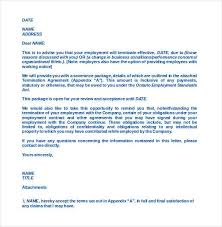 termination letter at will employee how to write a termination letter to an employer