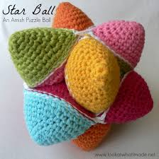 Star Crochet Pattern New Star Ball A Crochet Amish Puzzle Ball Pattern ⋆ Look At What I Made