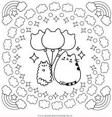 Disegno Pusheen 13 Personaggio Cartone Animato Da Colorare