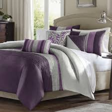 Modern Purple Bedding Sets | AllModern & Morell 6 Piece Reversible Duvet Cover Set Adamdwight.com