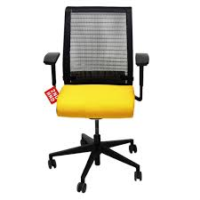 steelcase think office chair. Steelcase Think Office Chair In New Yellow Fabric 2ndhndcom A