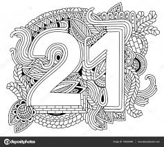 Happy Birthday Number 21 Greeting Card For 21year With Geometr