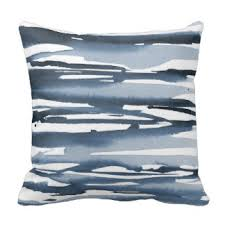 slate blue pillows. Brilliant Slate Slate Blue Watercolor Abstract Stripes Throw Pillow Intended Pillows