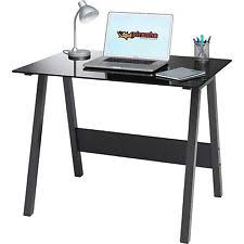 office glass desk. compact black glass computer desk home office furniture piranha barbel pc 7bg