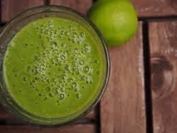 Green smoothie with lime free image