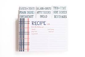 Where To Buy Recipe Cards In Stores Fireside Plaid Recipe Cards
