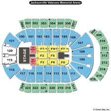 Veterans Memorial Arena Seating Chart Jacksonville Memorial Arena Concert Seating Chart