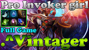 dota 2 vintager 6000mmr pro invoker girl vol 1 full game