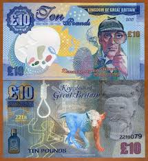 fantasy kingdom of great britain pound banknote features franck medina a french graphic and recording artist has created a fantasy pound10 banknote of the kingdom of great britain that features sherlock holmes and