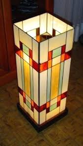 stain glass lamp curtain border stained replica prairie lampshade patterns