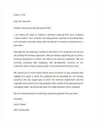 Cover Letter For A Proposal Sample Business Proposal Request Letter