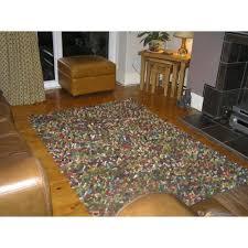 jelly bean multicoloured wool rug