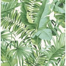 A-Street Prints Alfresco Green Palm ...