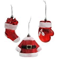 Weihnachtsbaumschmuck Rot Weiß 3st