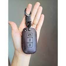 Bao da chìa khoá ôtô Kia Morning bản nhập chìa thông minh 3 nút_Da bò nhập  khẩu