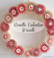 40 rosette handmade wreath for valentine event