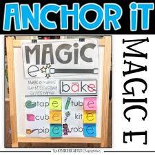 Kinder Anchor Charts Interactive Kindergarten Anchor Charts Magic E And Bossy E The Kinderhearted Classroom