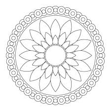 Small Picture Easy Flower Coloring Page Pages Simple Clipart Plants Free