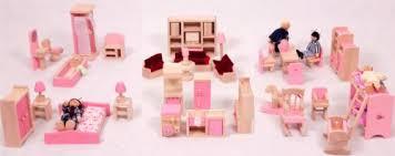 pink dolls house furniture. mamakiddies pink wooden dolls house furniture set 6 rooms u0026 4 next day delivery i