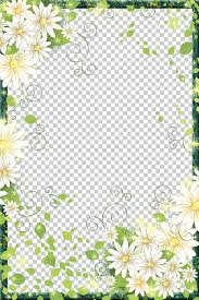 border flowers frame digital photo frame beautiful flowers border frame green and white fl