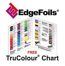 Edgefoils 01254 704330 Free Edgefoils Trucolour Chart