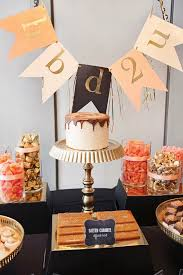 high style black gold birthday party