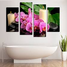 4 panel butterfly orchid flower wall art picture home decoration for living room canvas print paintingunframed f1800 in painting calligraphy from home  on orchid flower wall art with 4 panel butterfly orchid flower wall art picture home decoration for