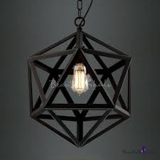 star of david cage suspension industrial 1 light pendant light in black finished beautifulhalo com