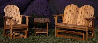 outdoor glider rocker. Garden Glider Chair / Bench Side Table Outdoor Rocker