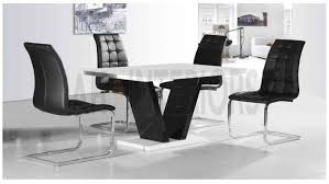 zara white black 1 2m fixed top dining table with black enzo chairs