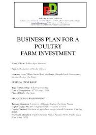 Agricultural Business Plan Sample Farm Template Free – Poquet