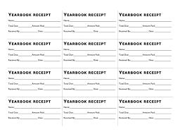 Receipts Template Back To School Yearbook Book Sale Receipts Template In Word