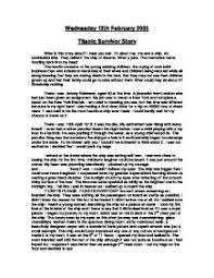 titanic survivor story gcse english marked by teachers com page 1 zoom in