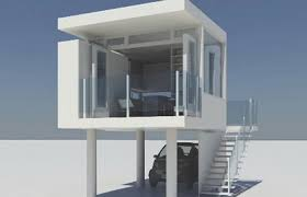 tiny house with garage. Modern House Plans Medium Size Tiny With Garage Underneath And A Bedroom On I
