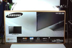 samsung smart tv box. cracking open the 55\ samsung smart tv box
