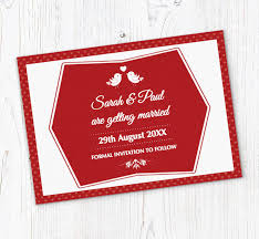 Red Save The Date Cards Red And White Save The Date Cards