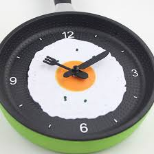 cool lovely design fried pan clock plastic kitchen wall for clocks
