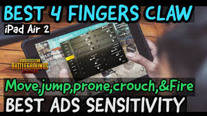 iPad Air 2 pubg Gameplay Max Graphics Settings | 4 Fingers claw+Ads  sensitivity pubg mobile - YouTube