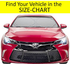 Buy Windshield Sun Shade Easy Select Chart With Your Vehicle
