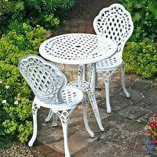 plastic bistro set full image for white aluminium garden table and chairs white resin garden table plastic bistro