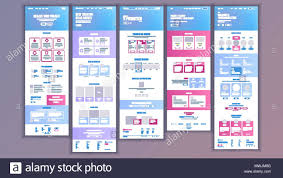 Website Design And Development Contract Template Website Template Vector Page Business Background Shopping