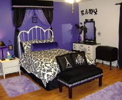 Black White Purple Bedroom Ideas 2