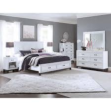 Norah Cal King Storage Bed, White