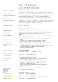Skills Examples For Resume Customer Service Mmventures Co