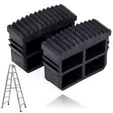 <b>2pcs Black Rubber</b> Replacement Step Ladder Feet Non Slip Ladder ...